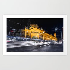 Flinders Street Station Art Print