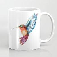 hummingbird Mugs featuring Hummingbird by Alejandra Lara