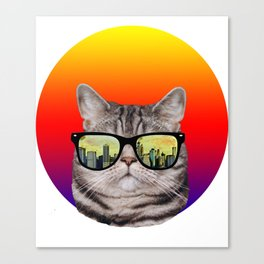 funny cat gifts/i love cats/music gift Canvas Print