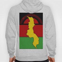 Malawi Map on a Malawian Flag Hoody