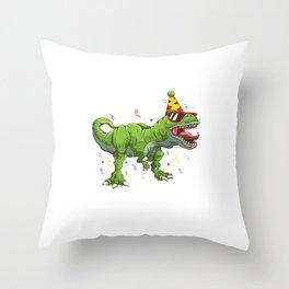 Rawr I'm Four T-Rex Dinosaur 4th Fourth Birthday Throw Pillow