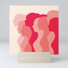 Women side by side Mini Art Print