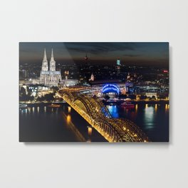 Cologne Cathedral and Hohenzollern Bridge Metal Print