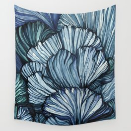 Blue Coral Wall Tapestry