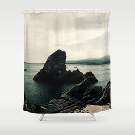 The Rock, Italy Shower Curtain