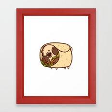 Puglie Burrito Framed Art Print