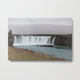 Godafoss waterfall in Iceland - nature lanscape Metal Print