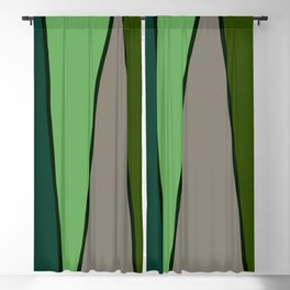 Green Abstract Pattern Turtle Blackout Curtain