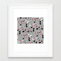 depression Framed Art Prints featuring depression by Reinekke