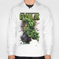 hulk Hoodies featuring Hulk by WaXaVeJu