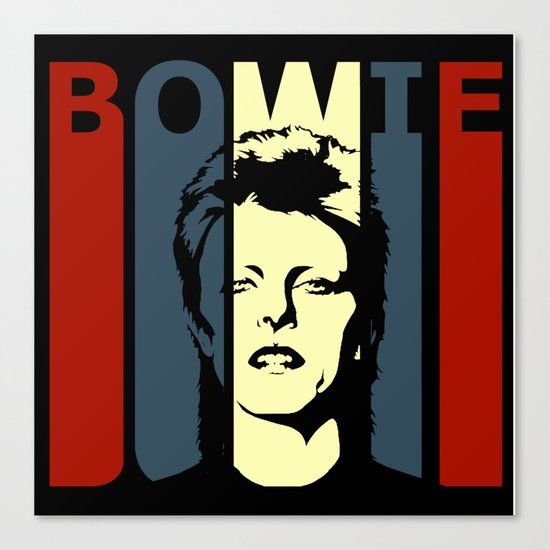 David Bowie Retro Homage Canvas Print by 45rpm   Society6