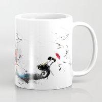 volkswagen Mugs featuring volkswagen van by Adriana Bermúdez