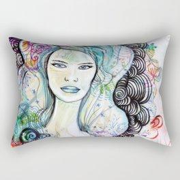 doodle girl Rectangular Pillow