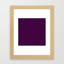 Large Zombie Purple and Black Hell Hounds Tooth Check Framed Art Print