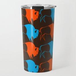 Orange Blue Buffalo Spirit Travel Mug