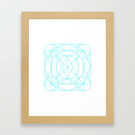 Stained Glass- Blue  Framed Art Print