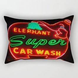Elephant Super Car Wash Rectangular Pillow