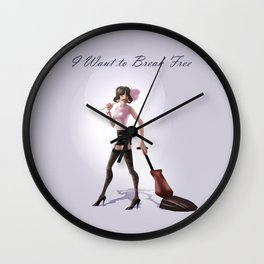 I want to break free Wall Clock