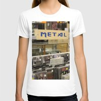 metal T-shirts featuring Metal by Bingz