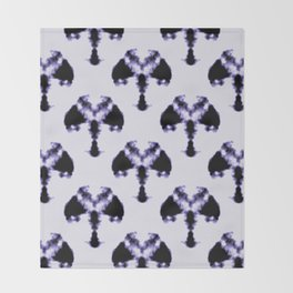 Rorschach inkblot Throw Blanket