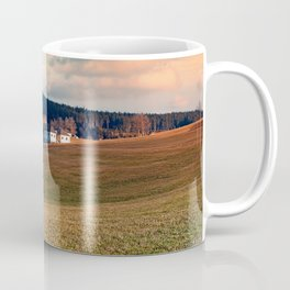 Meadows and farms in rural scenery | landscape photography Coffee Mug