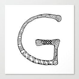 Monogram letter G Canvas Print
