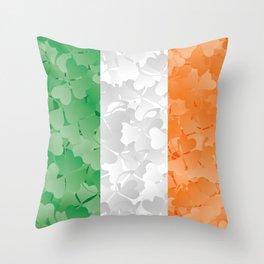 Irish flag of shamrocks Throw Pillow