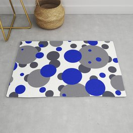 Bubbles blue grey- white design Rug