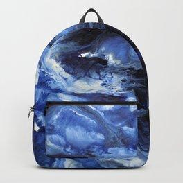 Swirling Blue Waters II - Painting Backpack