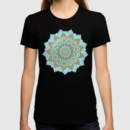 Cyan & Golden Yellow Sunny Skies Medallion T-shirt