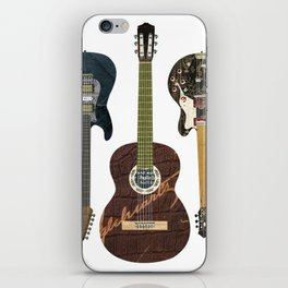 Guitar Collage iPhone Skin