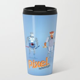 Thundercats - Pixel Nostalgia  Metal Travel Mug