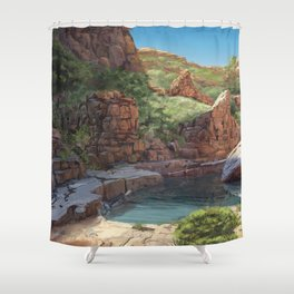 Outback Oasis Shower Curtain