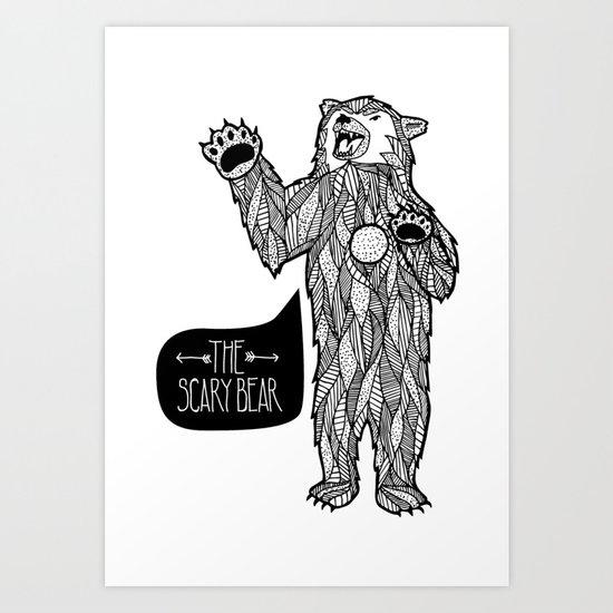 Scary Bear 2 Art Print
