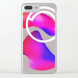 abstract fluid shapes no1 Clear iPhone Case