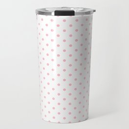 Dots (Pink/White) Travel Mug