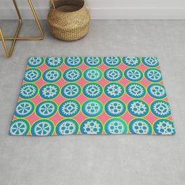 Gearwheels pattern Rug