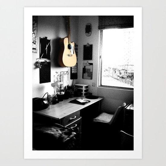 ART STUDIO - GUITAR Art Print