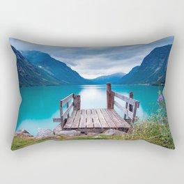 Magnificent Pier In Bergen Norway Ultra HD Rectangular Pillow
