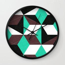rhombus mania Wall Clock