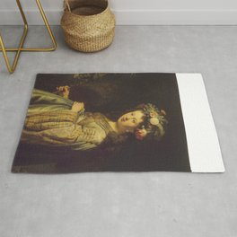 "Rembrandt Harmenszoon van Rijn, ""Saskia as Flora"", 1635 Rug"