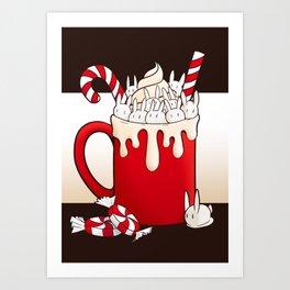 Peppermint Bun Mug Art Print