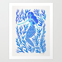 Kelp Forest Mermaid – Blue Palette Kunstdrucke