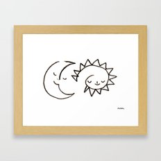 moom and snuh Framed Art Print
