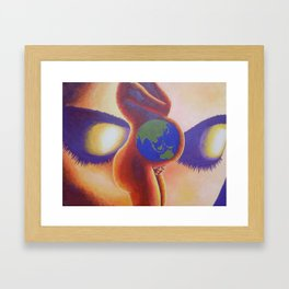 The hand that rocks the cradle Framed Art Print