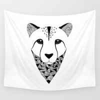 cheetah Wall Tapestries featuring Cheetah by Art & Be