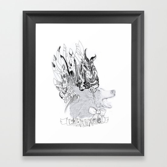 Cherokee Bear Framed Art Print