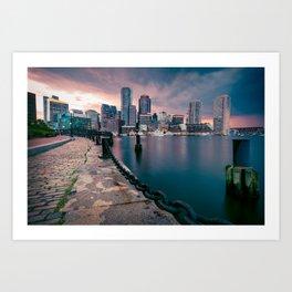 Boston, Massachusetts at Sunset 3 Art Print
