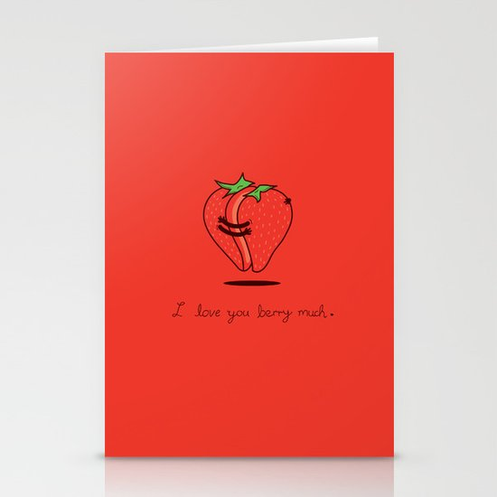 How much do I love you? Stationery Cards