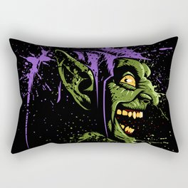 Green Crazy Rectangular Pillow
